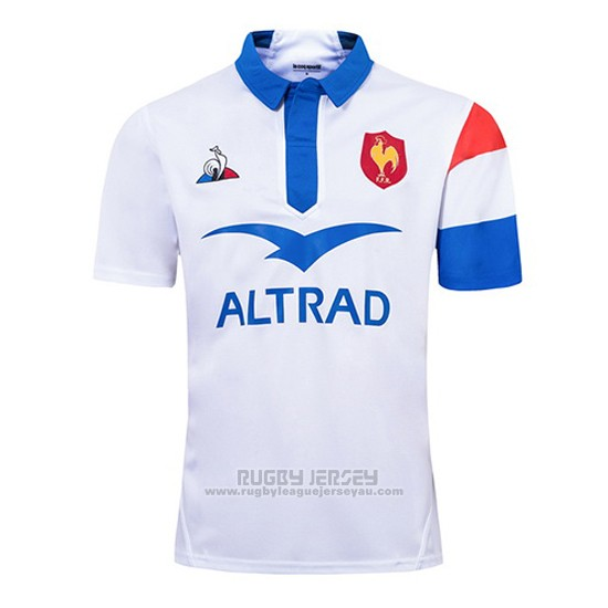 095b5d5b Jersey France Rugby 2018-19 White for sale   www.rugbyleaguejerseyau.com